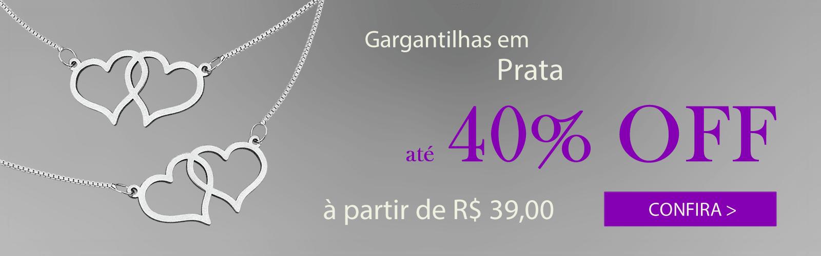 Gargantilhas 40% OFF