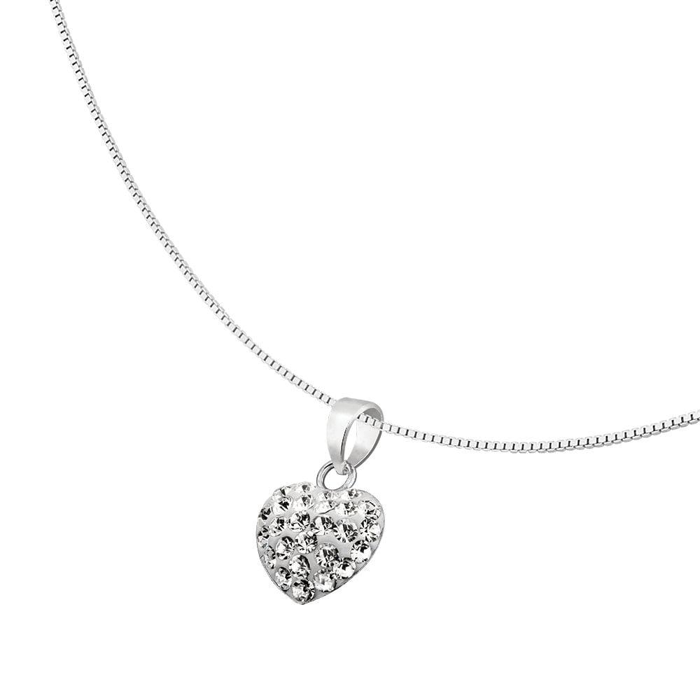 76a82b0aa60 Colar de Coração com Cristais Swarovski em Prata 925 - JoiaEmCasa