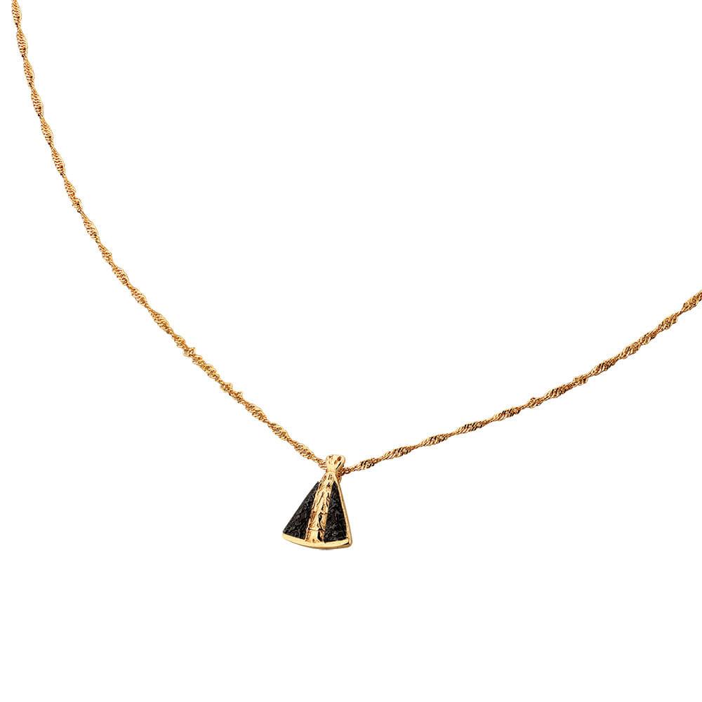 Colar de Ouro Aparecida   Joia em Casa - JoiaEmCasa 8cd61ef941
